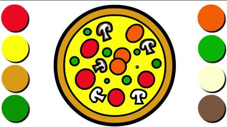 简单美味的披萨怎样画,披萨如何画,教儿童画披萨的方法