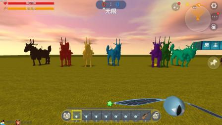 迷你世界:七中绝版彩色麒麟坐骑上线,据说连老玩家都没有见过