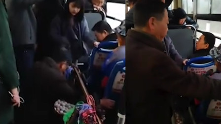 公交突然刹车 女孩压碎6个鸡蛋被索赔100元