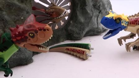 凶猛的暴龙藏在洞穴里看它来变恐龙魔术吧.mp4