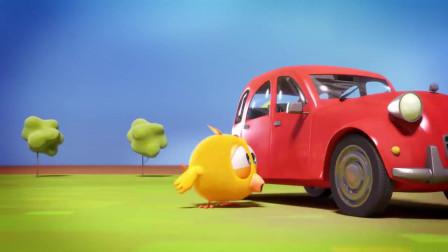 小鸡jaki:小鸡和小羊玩的时候,看到了一辆小汽车