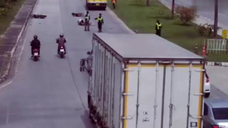 这样的车祸货车该不该负责任呢?作死飙车的摩托!要不是监控谁信这一切