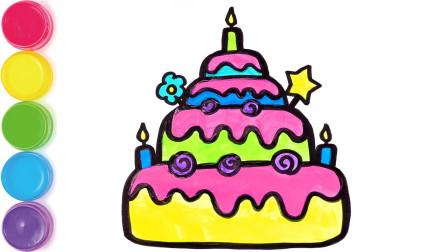 小星星玩具:四层彩色生日蛋糕
