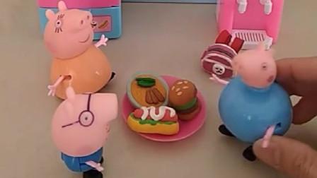 乔治要去上学了,可是穿成猪爸爸的衣服了,还被大头和葫芦娃笑话了