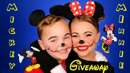 国外姐弟的迪士尼仿妆,萌萌的米老鼠,太可爱了
