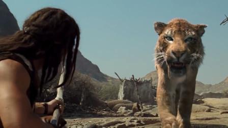史前一万年:剑齿虎救了壮汉一命,并警告了部族男子们!大场面啊!