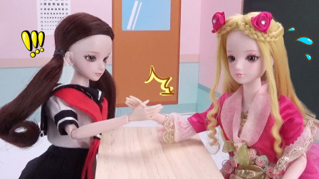 叶罗丽上学剧 灵公主和文茜比赛掰手腕,谁能赢?