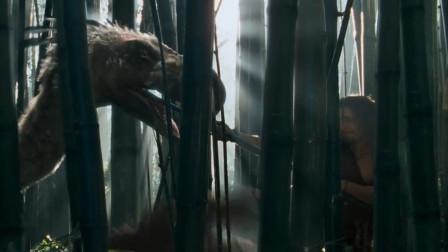 史前一万年:壮汉用竹子戳恐龙,这个操作的溜的一批!