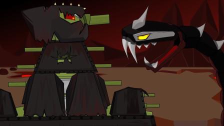 坦克世界动画:kv44对战地头蛇吗