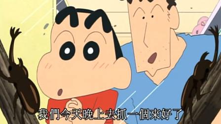 蜡笔小新:看上独角兽,以为广志要卖给他,结果是晚上出去抓