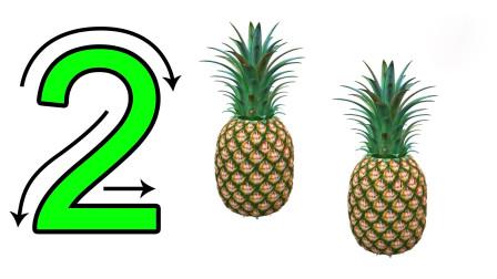 乐享数字乐园通过各种不同数量的蔬果认识数字