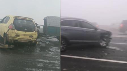 突发!河北发生数十辆车连环相撞事故 目前伤亡不明