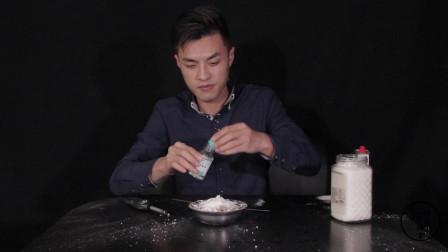 白糖和小苏打可做出法老之蛇?小伙实验后,怎么和别人做的不一样