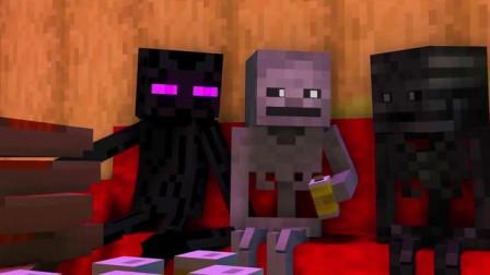 我的世界动画-怪物学院-末影人的披萨-TooBizz