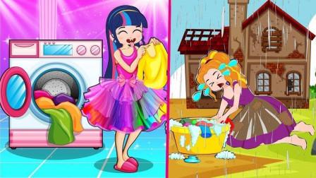 哇,阿坤和紫悦真浪漫 互相给对方送礼物 小马国女孩游戏