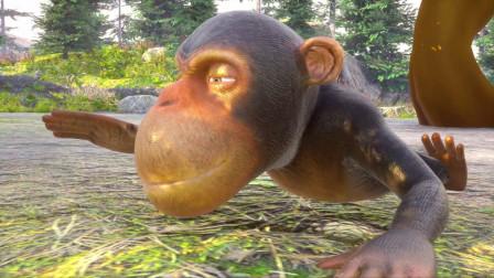 小动物一起野餐帮助大象种植胡萝卜