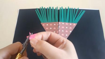 只需2分钟就能学会这款立体贺卡,简单漂亮又省时,手工折纸教程