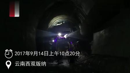 云南西双版纳一在建隧道发生坍塌事故9人被困