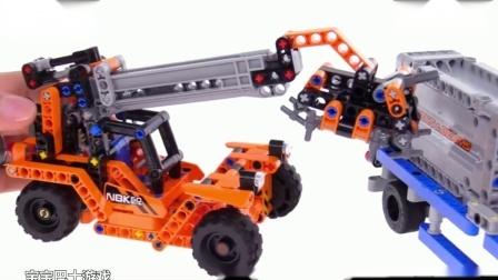 乐高 集装箱工程车组合 4399小游戏