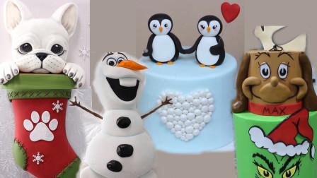圣诞节蛋糕这样吃才过瘾?做成神奇长筒袜企鹅等,每款口味都不同