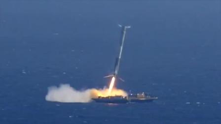 实拍美国SpaceX火箭回收失败的震撼瞬间,对技术要求真高