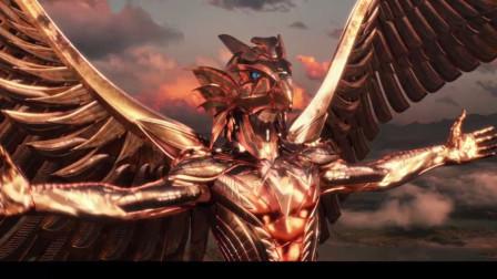 荷鲁斯向光明之神祈祷,不料下一秒就重获神力,瞬间变回黄金真身