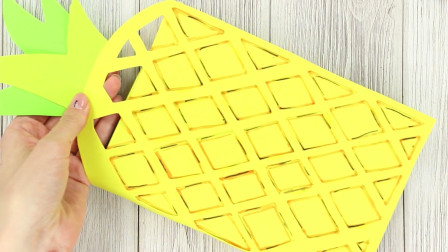 DIY手作,菠萝笔记本,你用过吗?