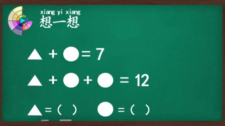 小学一年级数学,整体替换的概念,例题分析