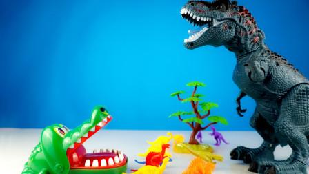 恶鱼把小恐龙抓走妈妈把恐龙救回来