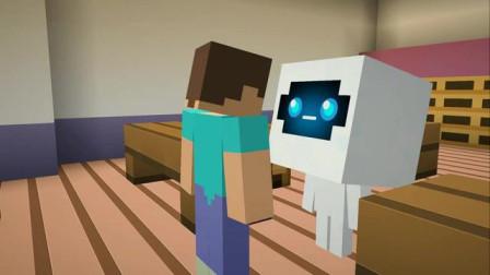 我的世界动画-怪物学院-雪球大战