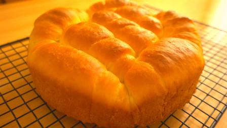 用最简单的办法做牛奶面包卷,一次发酵到位,暄软有弹性超好吃
