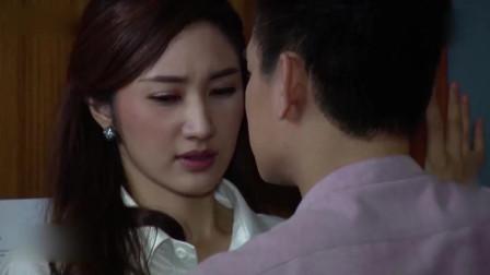 总裁和美女秘书在门后热吻,美女丈夫就在门口,好刺激!