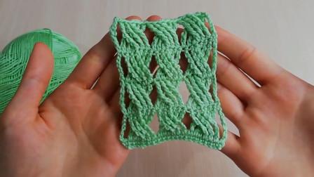 钩针编织花样,像麻花,镂空精致,双向都可用,大织面更漂亮