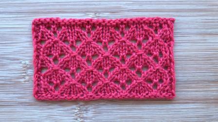 一款很漂亮的围巾花样,简单精致的菱格,好织好学,会了吗编织视频全集