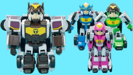正义救援队 4款主角变形机器人玩具