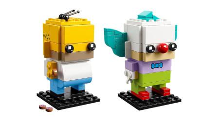 LEGO乐高积木玩具方头仔系列41632辛普森一家荷马小丑套装速拼