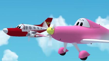 云奇飞行日记:粉红机翼说乌云机场有空闲,要一起去吗!
