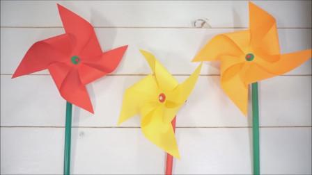 简单几步,教你折出漂亮的小风车
