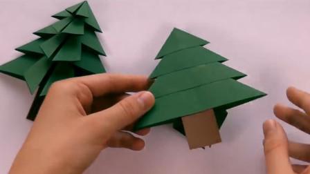 圣诞节教你做高大上的圣诞树,漂亮又省钱的圣诞节礼物,手工折纸