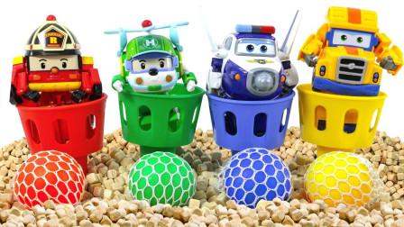 好神奇!变形警车珀利喜欢什么颜色的足球?超级飞侠趣味玩具故事