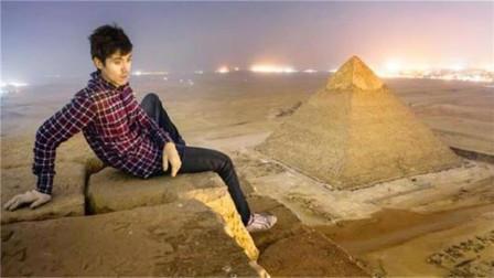 为什么游客禁止爬金字塔?一外国小哥到达顶端后,才知道其中原因