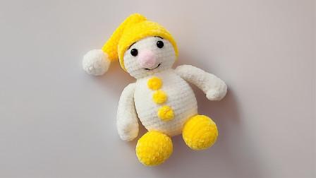 钩针编织小雪人玩偶详细的图解分享多款式视频
