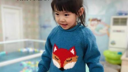 超可爱狐狸卡通套头衫 亲子装  【小眯眼】 1 后片
