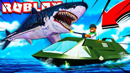 roblox鲨鱼模拟器:完蛋了,我的两条腿被鲨鱼咬断了!