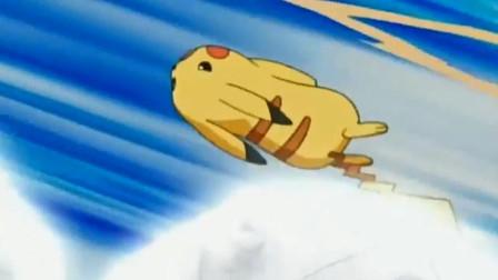 精灵宝可梦:皮卡丘二次挑战大岩蛇!比上次灵活了许多,但大岩蛇也很强!