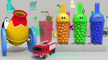 启蒙英语动画:彩色的巧克力豆放进微波炉