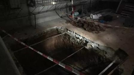 广州一小区居民楼加装电梯 意外发现汉代古墓