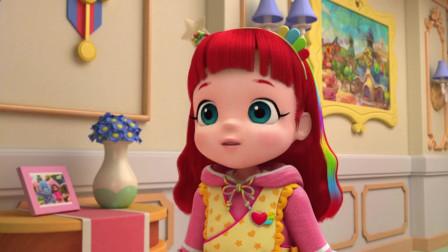 彩虹宝宝:宝宝们抢着玩摇铃,把摇铃从窗口飞出去了!