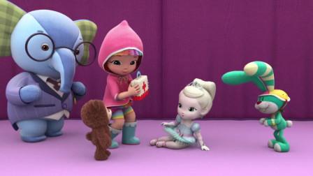 彩虹宝宝:冰凌公主别担忧,露露会帮你把伤给治好的!