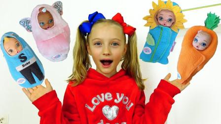 咋回事?萌宝小萝莉从哪里发现这么多的惊喜娃娃?趣味玩具故事